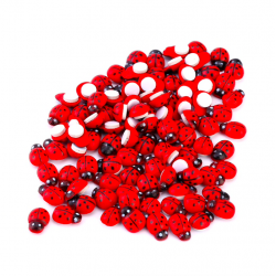 Wooden ladybugs stickers 100 pieces