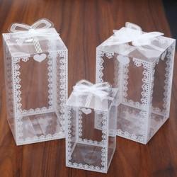 Transparente Geschenkbox - Hochzeit / Party / Kuchen / Geschenke