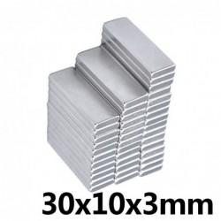 N35 - neodymium magnet - rectangle - 30 * 10 * 3mm