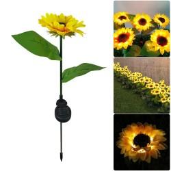 Sonnenblumenförmige Gartenleuchte - solarbetrieben - LED - wasserdicht