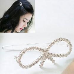 Bow-tie design - hair clip / barrette
