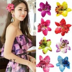 Fashionable flower hair clip - handmade - women / ladies