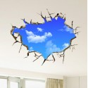 3D Landscape Blue Sky Wall Sticker 50*70 cm.