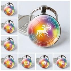 12 constellation zodiac - glass keyring