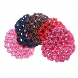 Fashionable crochet hair cover - women - ballet / skating / hair styling