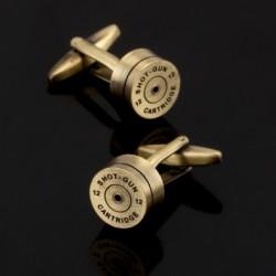 Kugel aus Bronze und Gold - runde Manschettenknöpfe