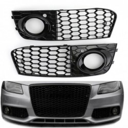 Mesh fog light open vent - grille intake cover - for Audi A4 B8 RS4