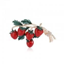 Elegant brooch with a sprig...