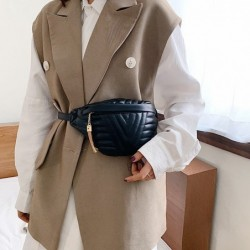 Fashionable leather messenger bag - with adjustable strap - women