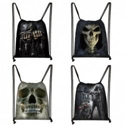Grim reaper / skull design - string bag - unisex
