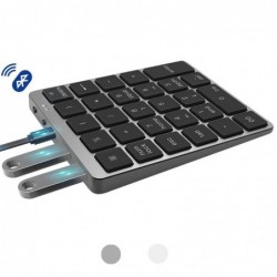 Tragbare numerische Tastatur - Bluetooth - mit USB-HUB-Splitter