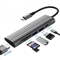 USB 3.0 HDMI adapter - C Splitter Port Type C