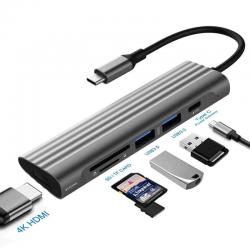 USB C / HUB Typ-C auf Multi USB 3.0 HUB HDMI Adapter - Dock - Splitter