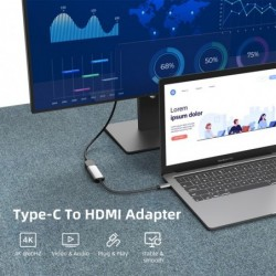 USB Type-C to HDMI adapter - USB 3.1 USB-C to HDMI - converter - for laptops / Smartphones