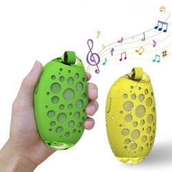Mango shaped - wireless Bluetooth speakers - waterproof - with metal clip