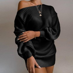Sexy knitted sweater - with...