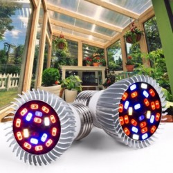 LED Pflanzenlicht - Phytolampe - Vollspektrum - E27 / E14 / 18W / 28W - UV / IR