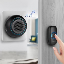 M523 - wireless doorbell kit - with touch button / 32 sounds - waterproof - LED