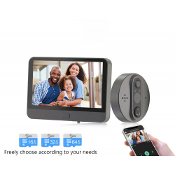 Intelligente Video-Türklingel - mit Türspion / PIR-Bewegungserkennung / APP / WiFi - Fernbedienung