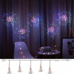 Guirnalda navideña - cadena de luces decorativas - luces de fuegos artificiales - 3M - 500 LED
