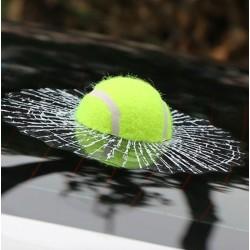 Tennisball - geknackt Fenster Autoaufkleber