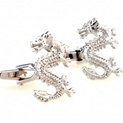 Silver Dragon Animal Cufflinks