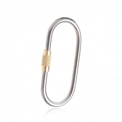 Titanium alloy carabiner - keychain - with lock buckle - camping / hiking