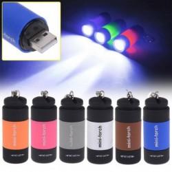Mini-Taschenlampe - LED - USB - wiederaufladbar - wasserdicht - mit Schlüsselanhänger