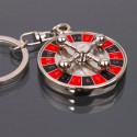 Spinning Roulette Wheel Keychain*