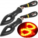 Universal LED motorcycle turn signal indicators lights 2 pcs