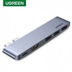 UGREEN - USB C HUB Dual Typ-C auf Multi USB 3.0 4K HDMI - Adapter Thunderbolt 3 - für MacBook Pro Air