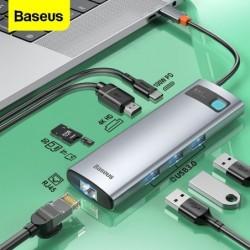 Baseus - USB 3.0 Typ-C HUB auf HDMI RJ45 - SD Reader PD - Dockstation - Splitter - für MacBook Pro