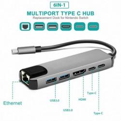 Multiport-Adapter - Splitter - USB 3.0 - Typ-C - auf HDMI - HUB - RJ45 PD