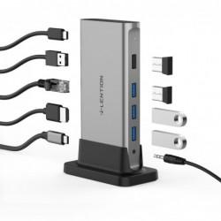11 in 1 - USB C HUB Type-C to multi HDMI RJ45 VGA - USB 3.0 / 2.0 - adapter - docking station