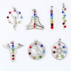 DIY reiki crystal beads chakra pendant - yoga - meditation - healing point pendant - as gifts