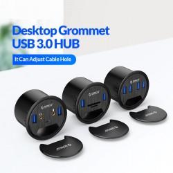 ORICO USB 3.0 HUB Desktop Grommet Type C High Speed Splitter With SD TF Headphone Mircophone Adapter For PC Computer Accessories