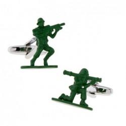 Trendige grüne Manschettenknöpfe - contra fighter