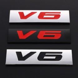 3D-Metall-Autoaufkleber - Emblem in Motorgröße - V6 - V8