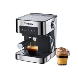 BioloMix - coffee maker machine - for espresso / cappuccino / latte / mocha - with milk frother - 20 Bar