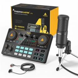 LITE AM200-S1 - all-in-one microphone - mixer kit - audio interface - with condenser microphone / earphones