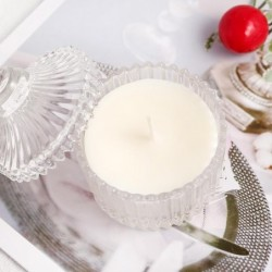 Pure natural coconut wax - scented - for candle making / massage - cosmetics