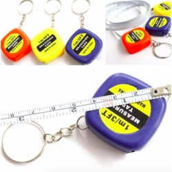 Mini 1Meter Measuring Tape Portable Keychain Keyring Tool
