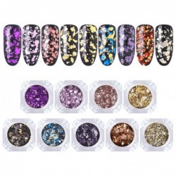 Nail art glitter - chameleon / sequins / mixed colors flakes