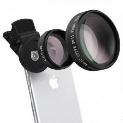 Phone Lens Kit 0.45X - macro lens clip - cellphone camera without dark corner