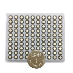 Batería de celda LR41 AG3 / 192 / SR41 / 392 - 100 piezas