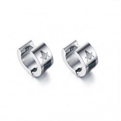 Small silver earrings - with Masonic sign - unisex