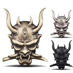 3D warrior - car / motorcycle sticker - metal emblem
