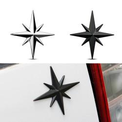 3D Stern - Auto- / Motorradaufkleber - Metallemblem