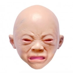 Creepy Halloween Cry Baby Full Head Latex Rubber Masquerade Mask