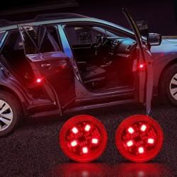 Autotür-LED-Warnleuchte - drahtlose magnetische Induktion - 2 Stück